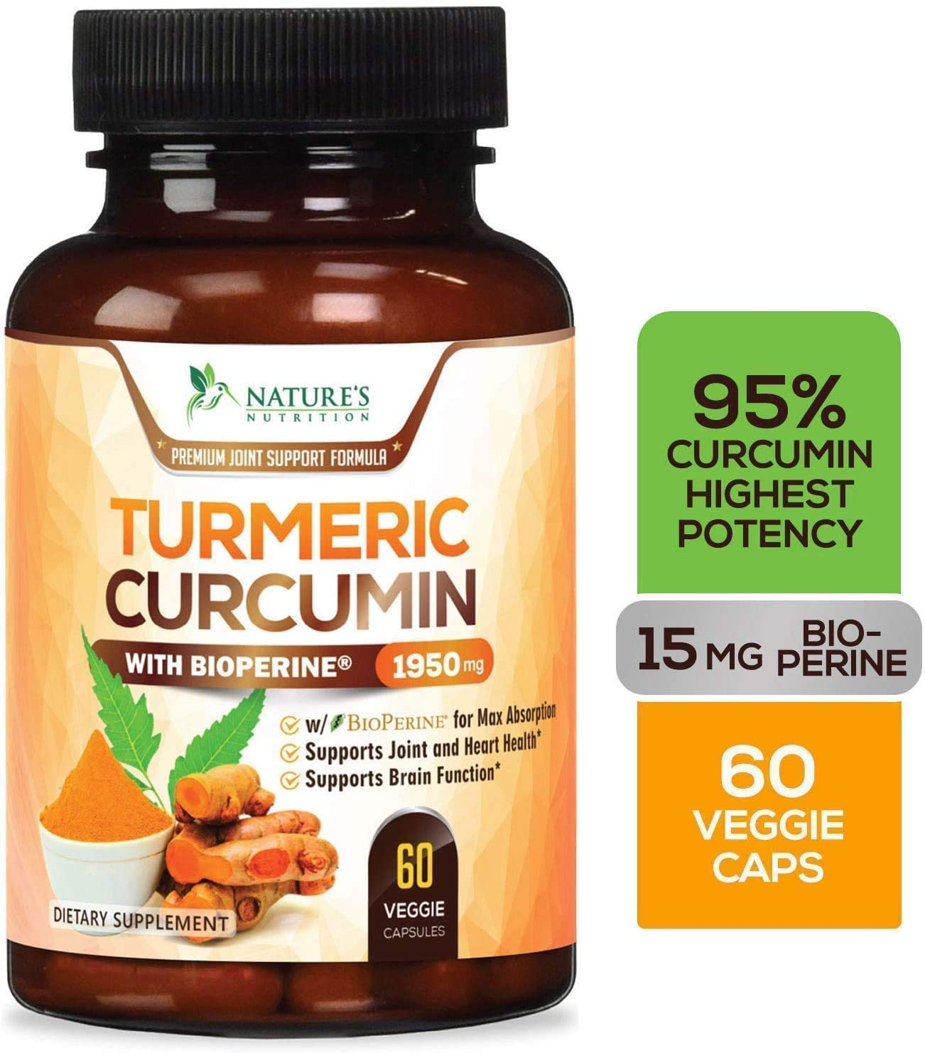 Tumeric curcumin highest potency