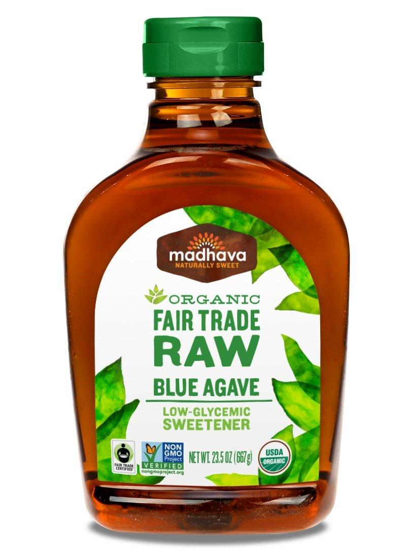 madhava organic fair trade raw blue agave