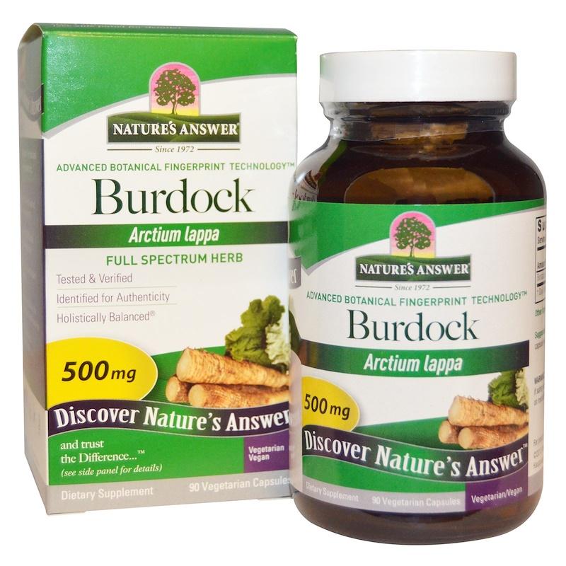 nature's answer burdock 500mg