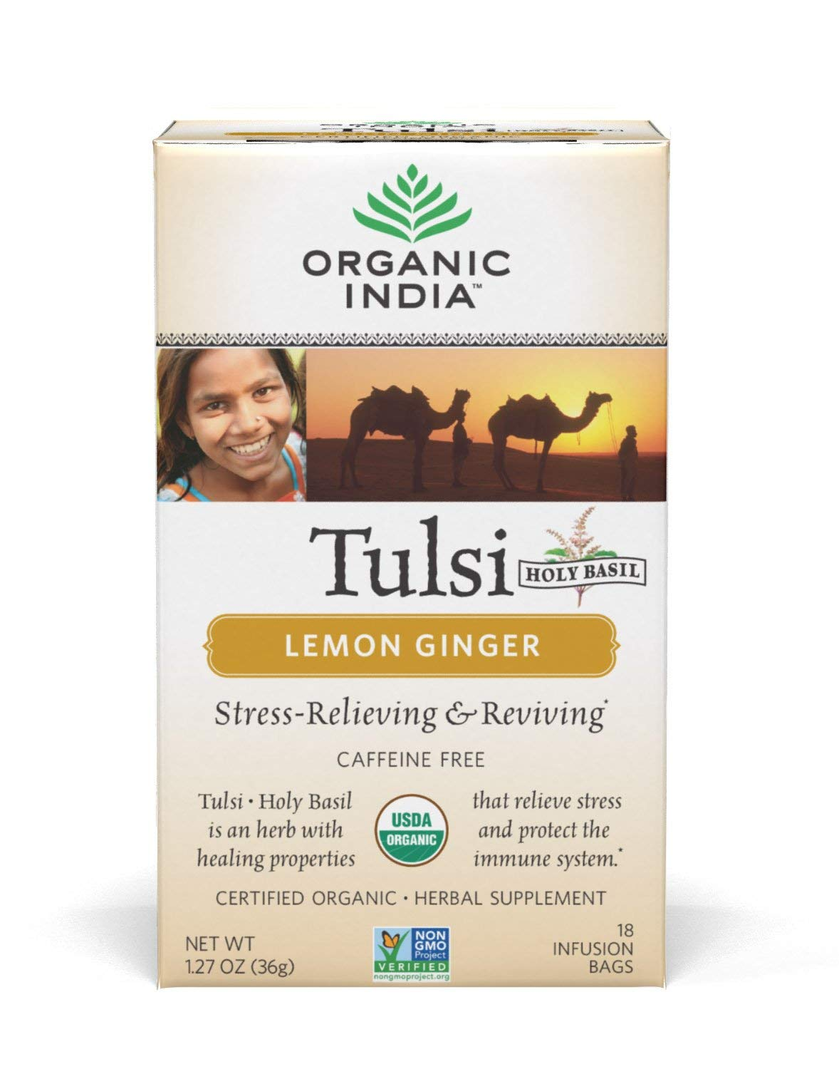 organic india tulsi lemon ginger