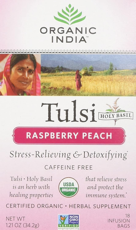 organic india tulsi raspberry peacch