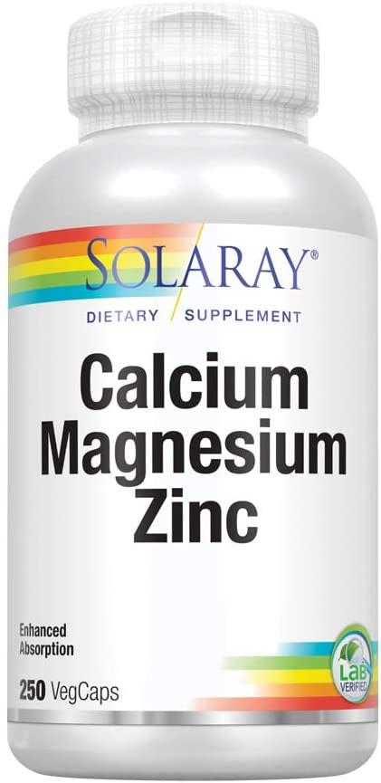 solaray calcium magnesium zinc 250veg