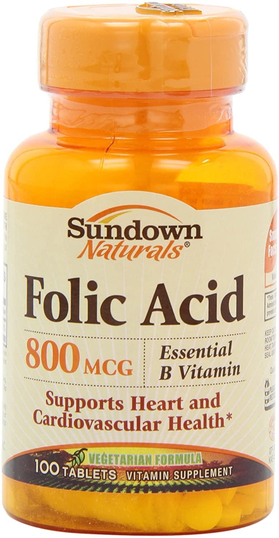 sundown folic acid