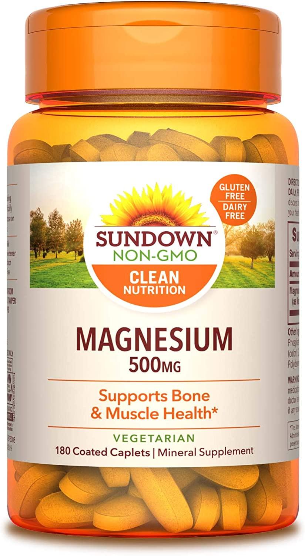 sundown magnesium 500mg